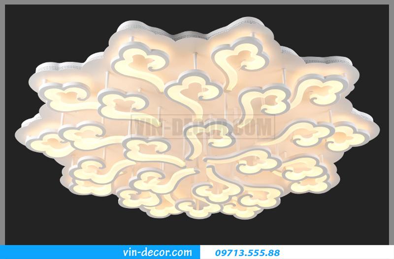 đèn led ốp trần vân mây nghệ thuật 05
