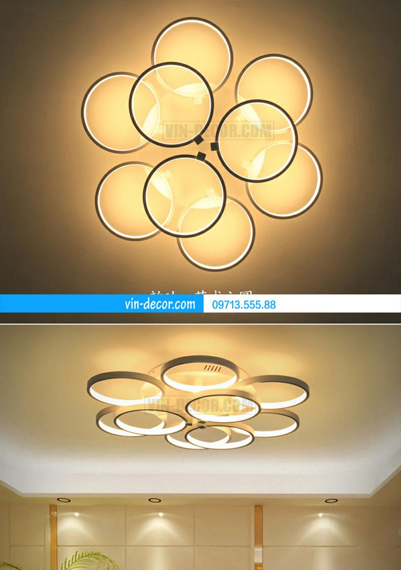 đèn led ốp trần vòng tròn đan nhau 03