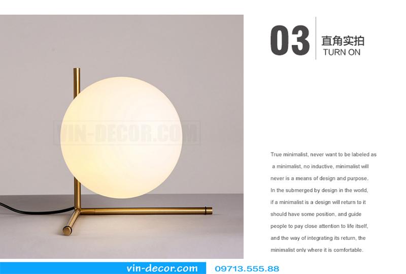 đèn ngủ bóng tròn hiện đại 06