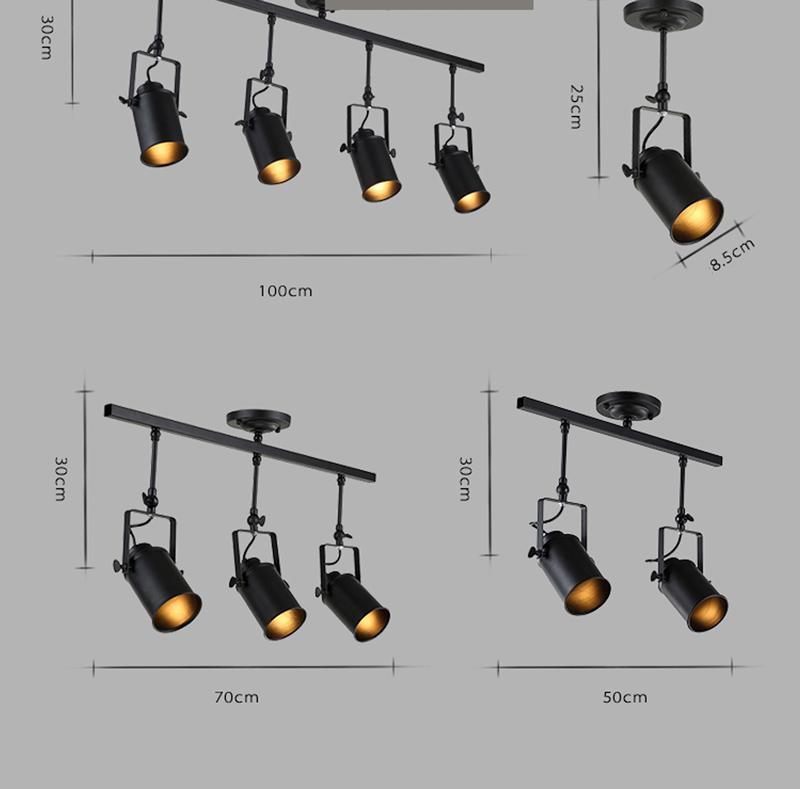 đèn rọi khung sắt 06