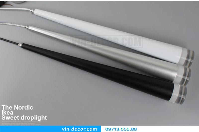 đèn thả quầy bar hình ống hiện đại 01