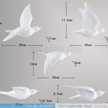 bộ 5 chim gắn tường độc đáo 04