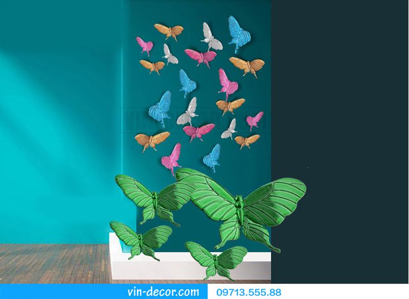 bướm decor gắn tường độc đáo 02