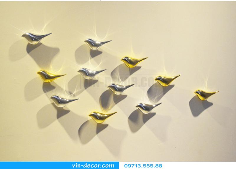 chim decor gắn tường ấn tượng 02