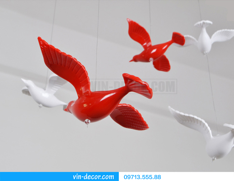 chim decor thả trần trang trí nội thất 07