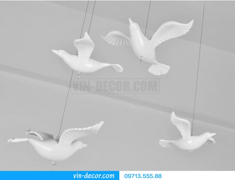 chim decor thả trần trang trí nội thất 09