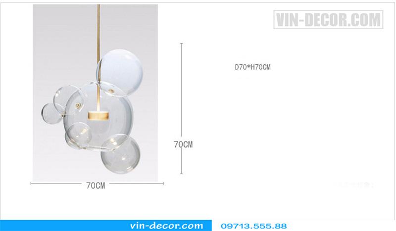 đèn chùm bong bóng xà phòng 03