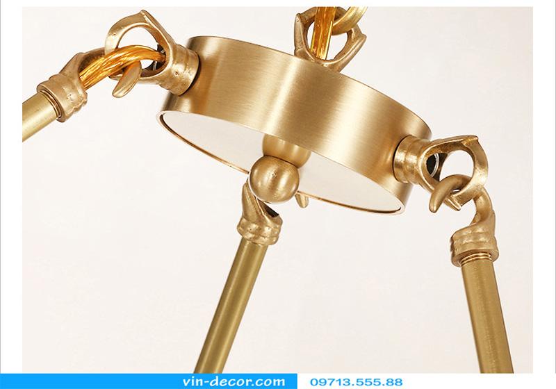 đèn chùm chim đồng hiện đại md 449 6
