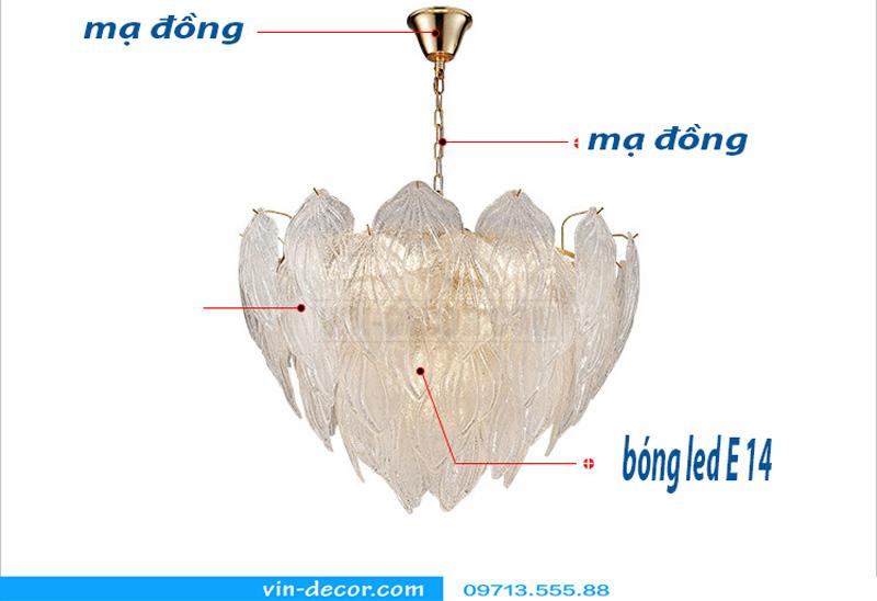 đèn chùm nghệ thuật độc đáo md 874 5