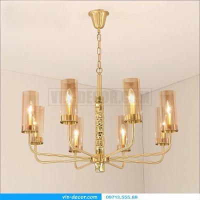 đèn chùm nghệ thuật mạ vàng md 3105
