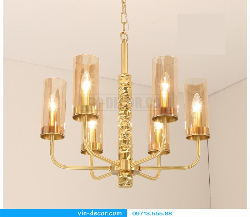 đèn chùm nghệ thuật mạ vàng md 3105 2