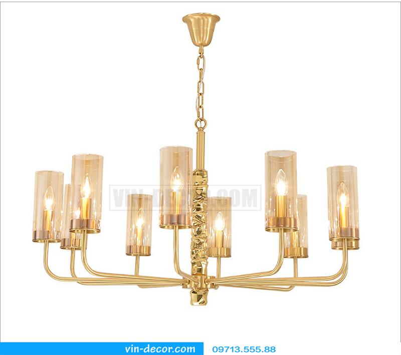 đèn chùm nghệ thuật mạ vàng md 3105 3