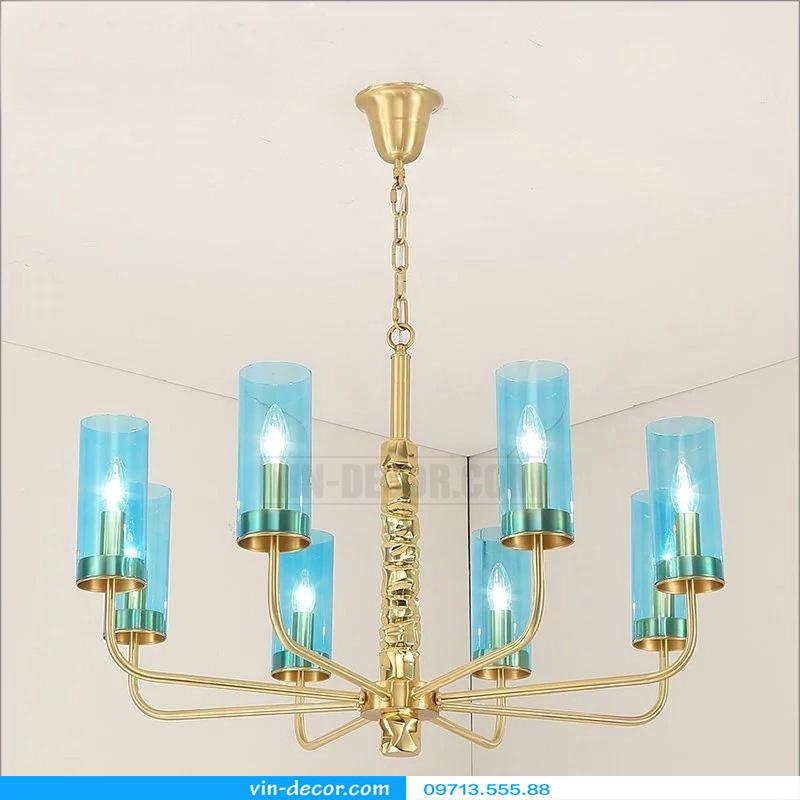 đèn chùm nghệ thuật mạ vàng md 3105 4