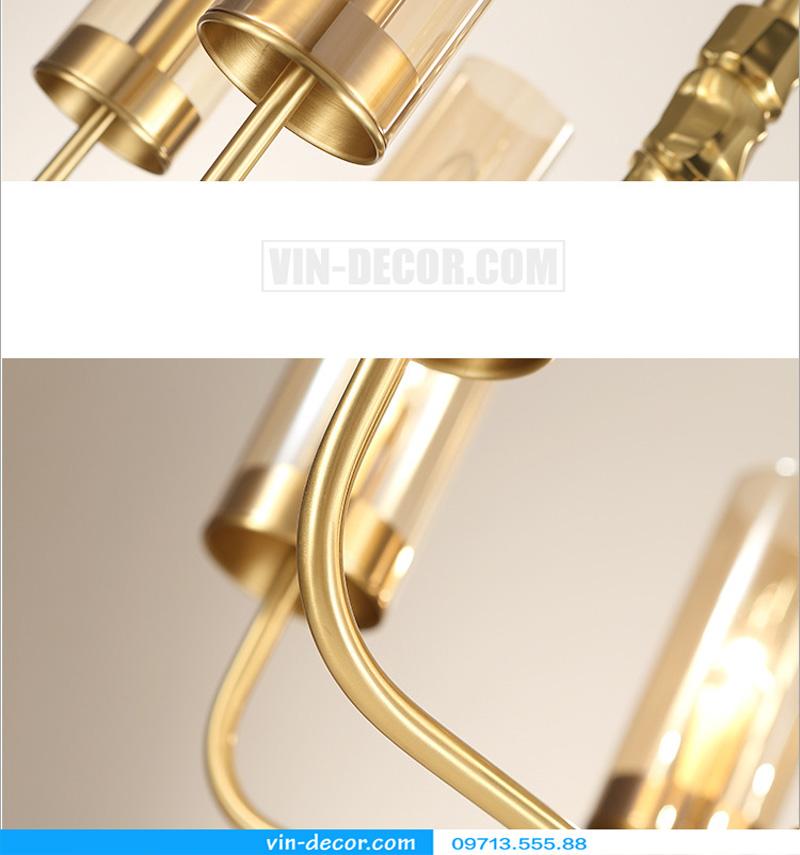 đèn chùm nghệ thuật mạ vàng md 3105 6