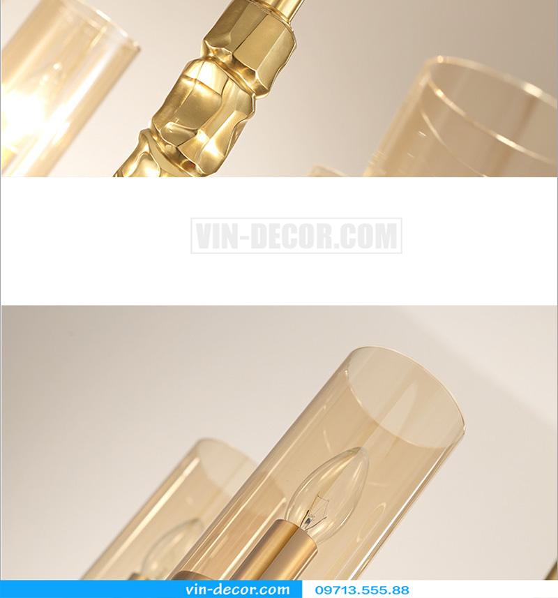 đèn chùm nghệ thuật mạ vàng md 3105 8