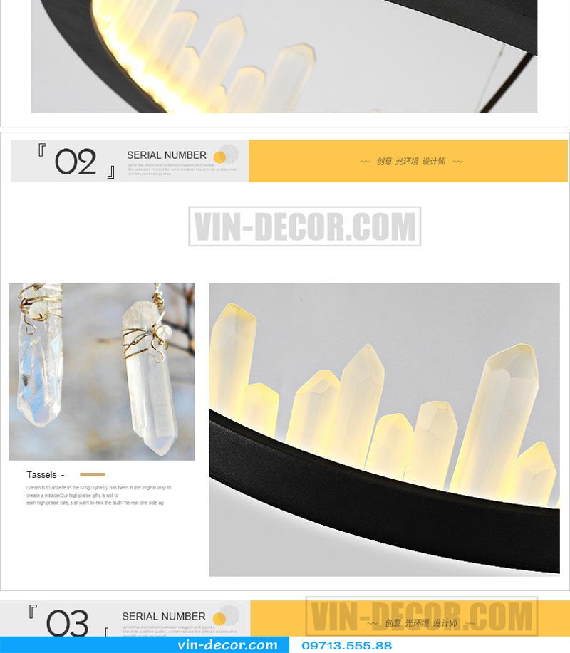 đèn chùm nghệ thuật md 8026 9