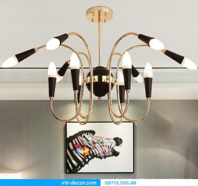 đèn chùm nghệ thuật swan retro 05