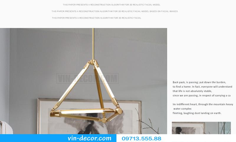 đèn thả bàn ăn hiện đại post modern 05
