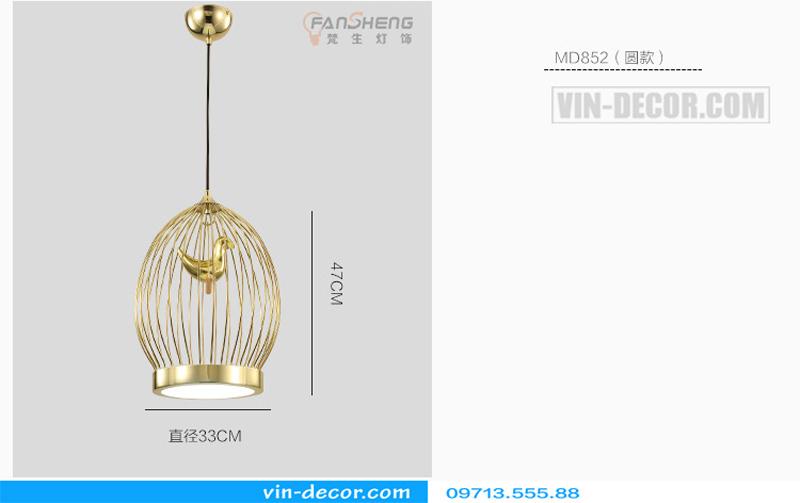 đèn thả bàn ăn lồng chim độc đáo md 009 14