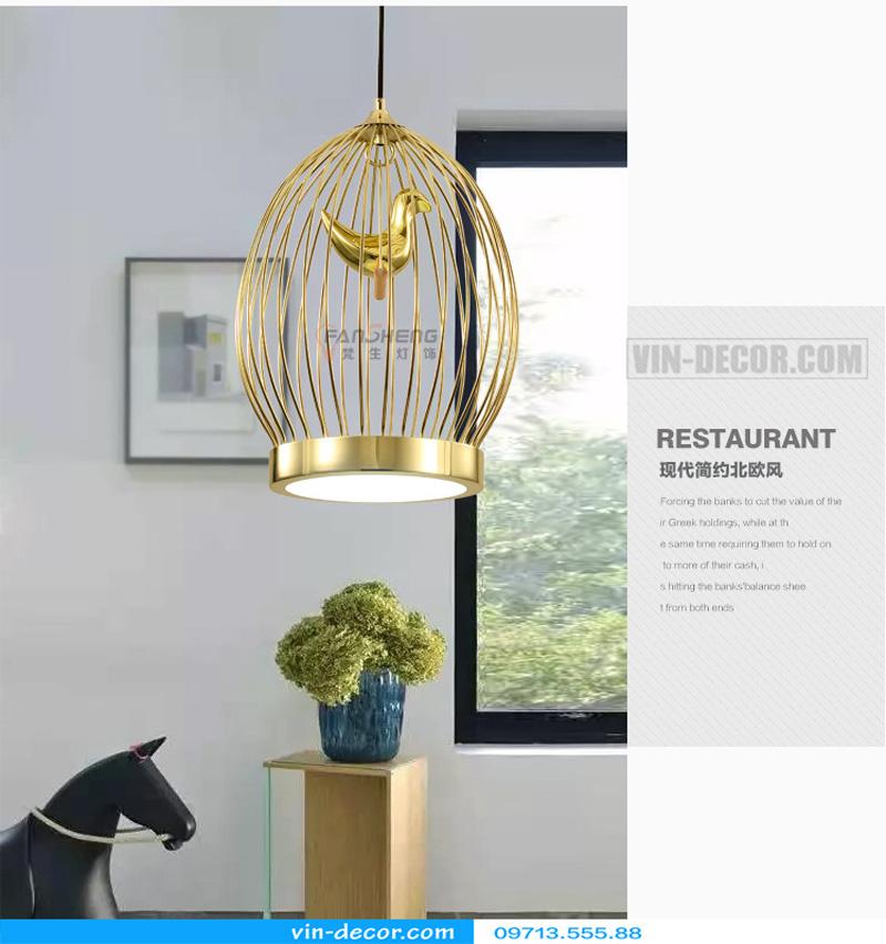 đèn thả bàn ăn lồng chim độc đáo md 009 6