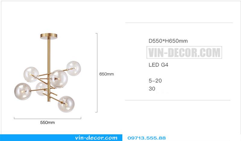 đèn thả bóng tròn md 900 04