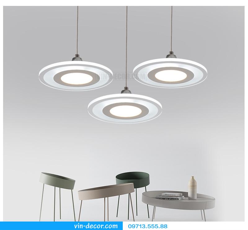 bộ 3 đèn thả bàn ăn led sáng tạo 03