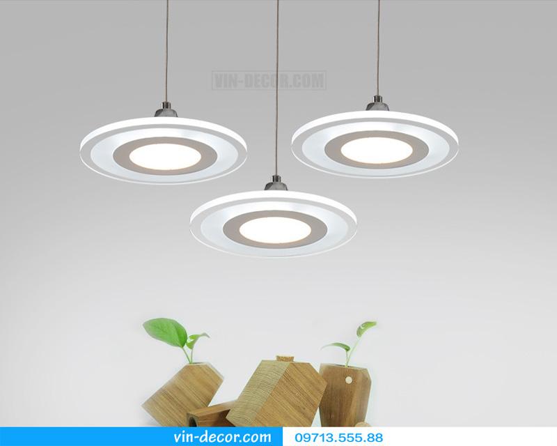 bộ 3 đèn thả bàn ăn led sáng tạo 09
