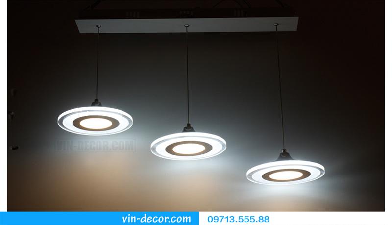 bộ 3 đèn thả bàn ăn led sáng tạo 11