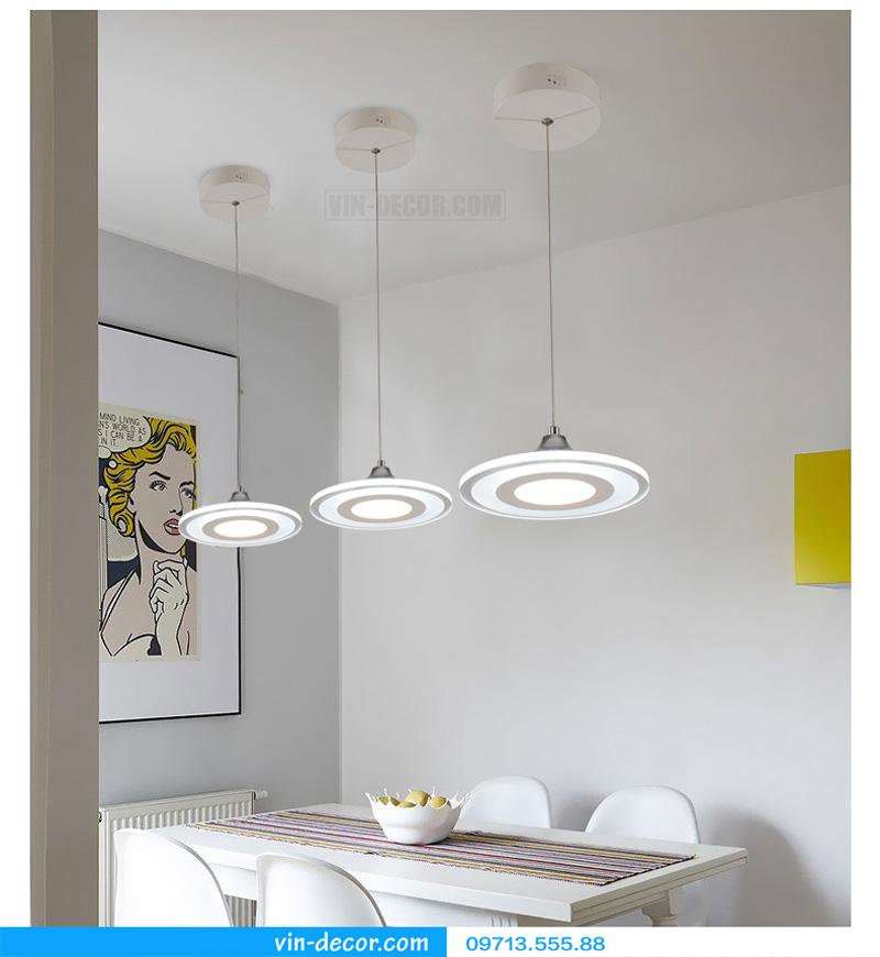 bộ 3 đèn thả bàn ăn led sáng tạo 12
