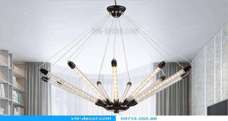 đèn chùm led ống md 8079 01