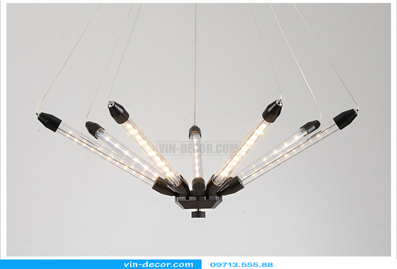 đèn chùm led ống md 8079 07
