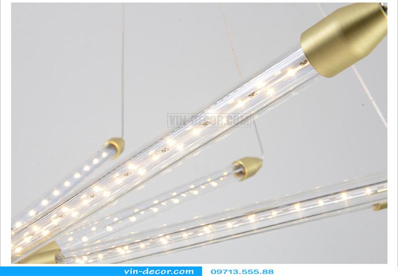 đèn chùm led ống md 8079 12