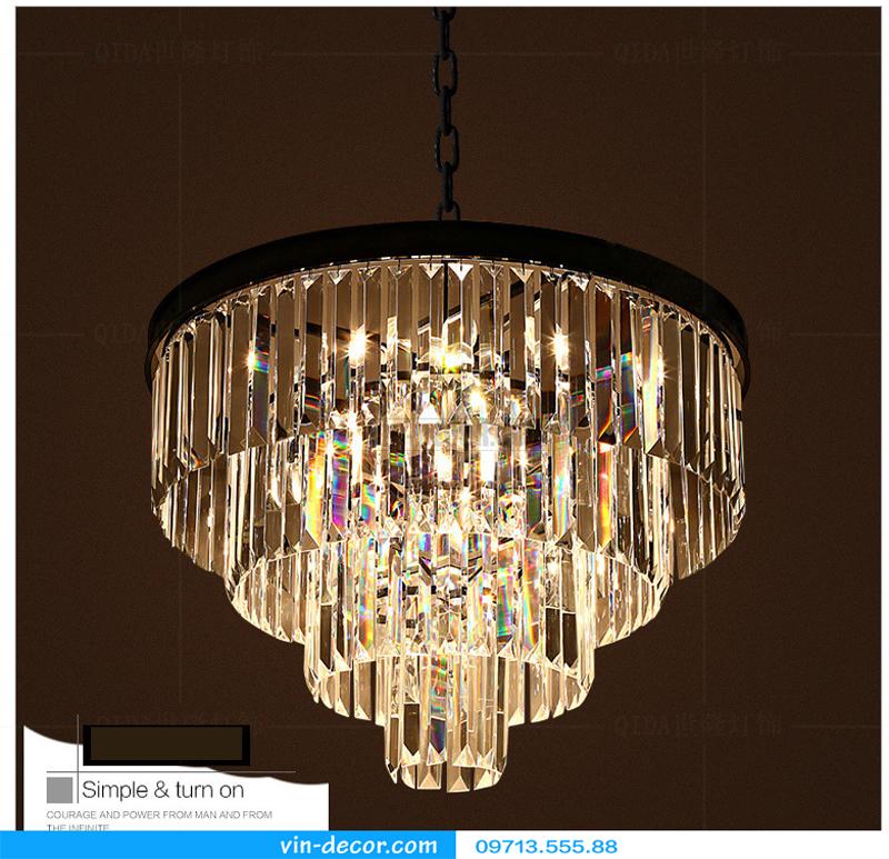 đèn chùm pha lê penthouse 03
