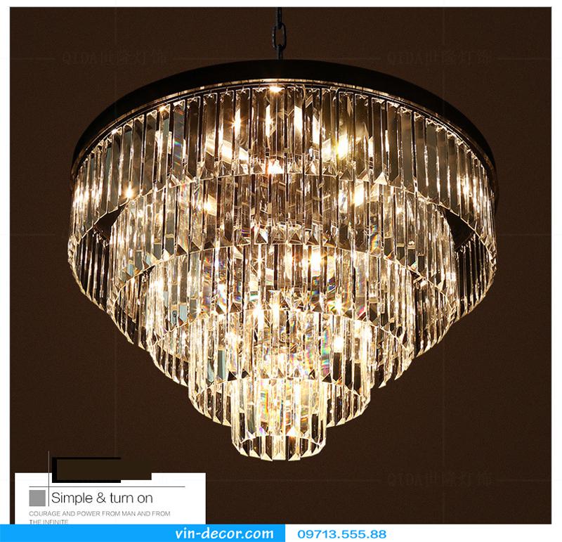 đèn chùm pha lê penthouse 04