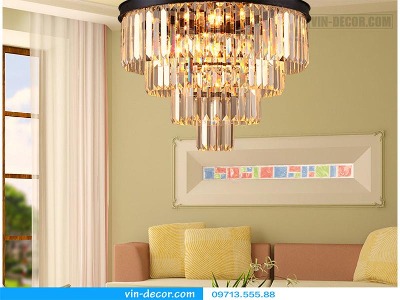 đèn chùm pha lê penthouse 05