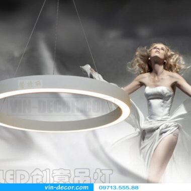 đèn led 1 vòng viền trắng hiện đại 02
