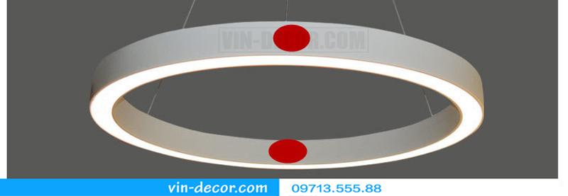 đèn led 1 vòng viền trắng hiện đại 04