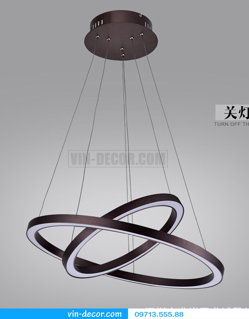 đèn led 2 vòng viền đen 03