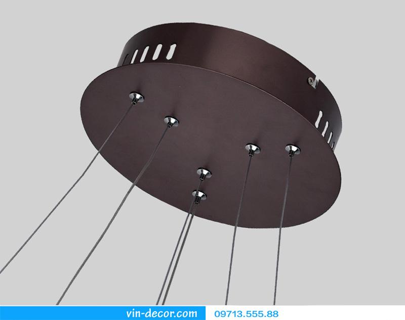 đèn led 2 vòng viền đen 10