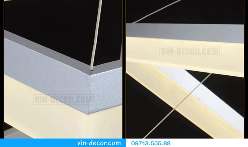 đèn led 3 vòng vuông hiện đại 02