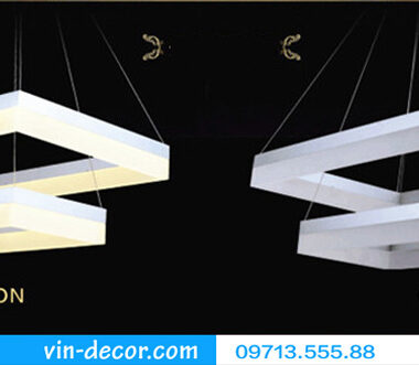 đèn led 3 vòng vuông hiện đại 05