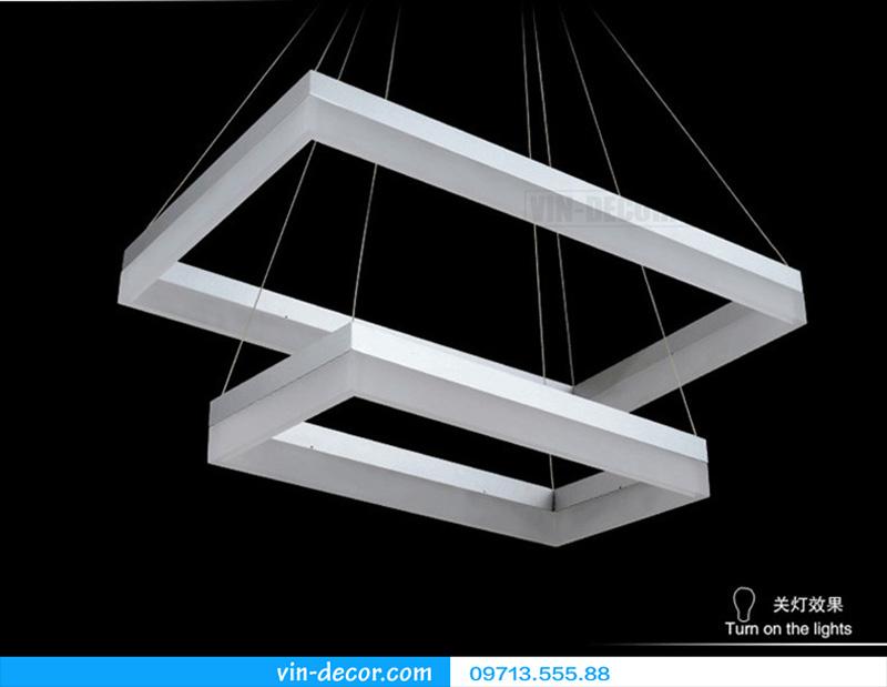 đèn led 3 vòng vuông hiện đại 11