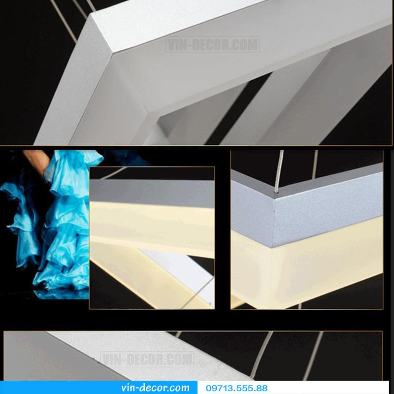 đèn led 3 vòng vuông hiện đại 13