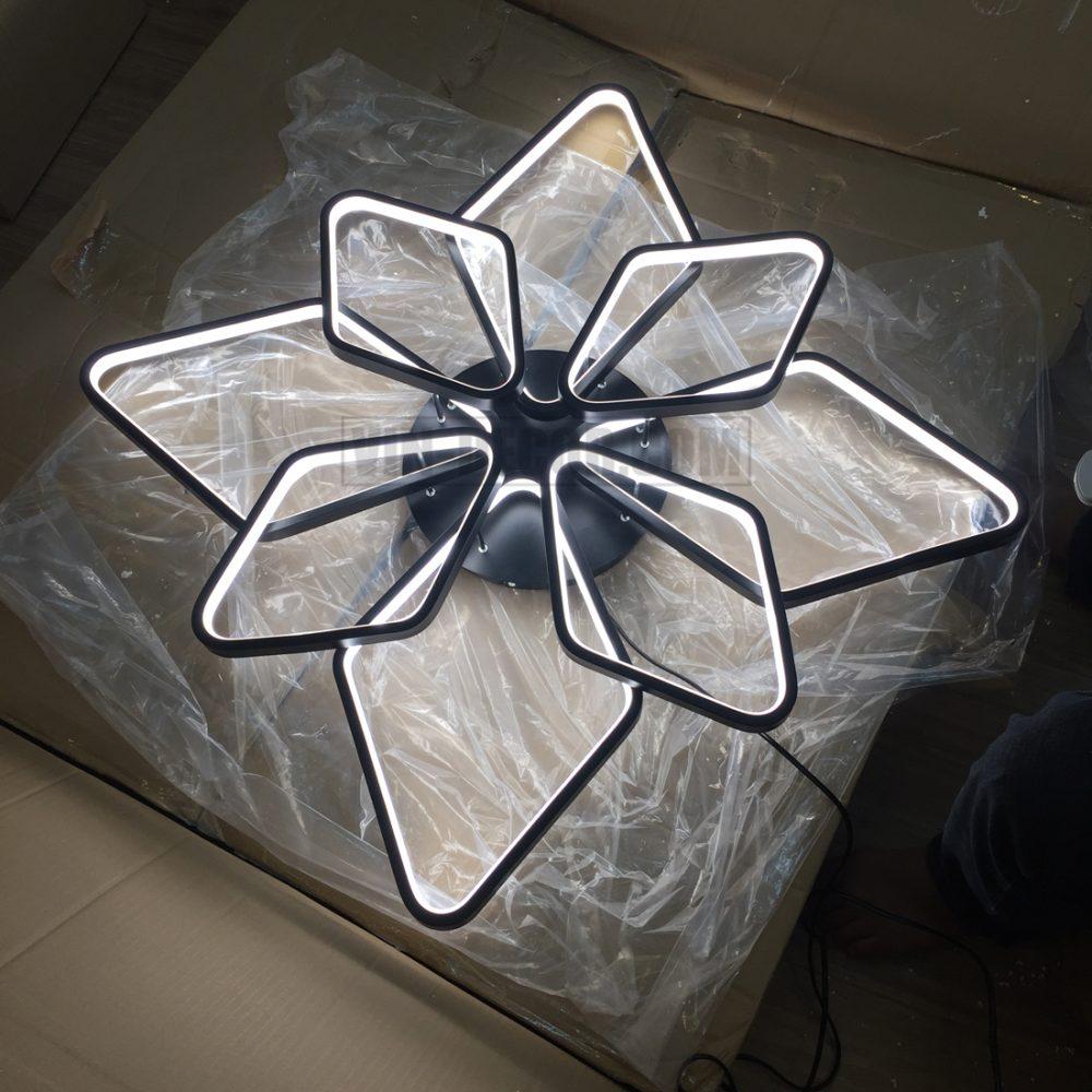 đèn led 8 vòng vuông ấn tượng 02