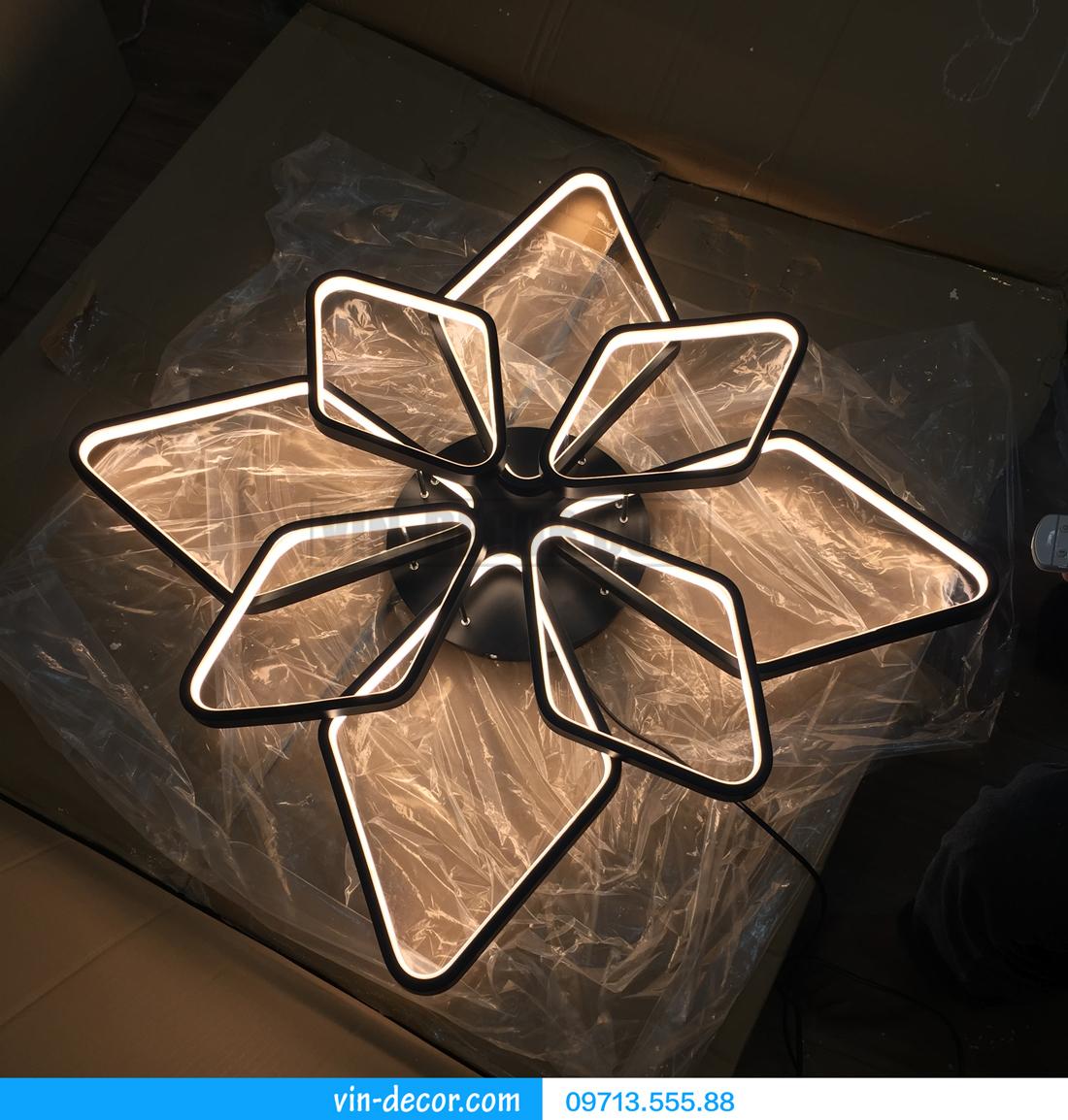 đèn led 8 vòng vuông ấn tượng 03