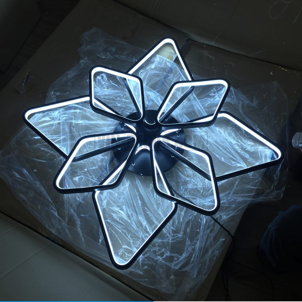 đèn led 8 vòng vuông ấn tượng 04