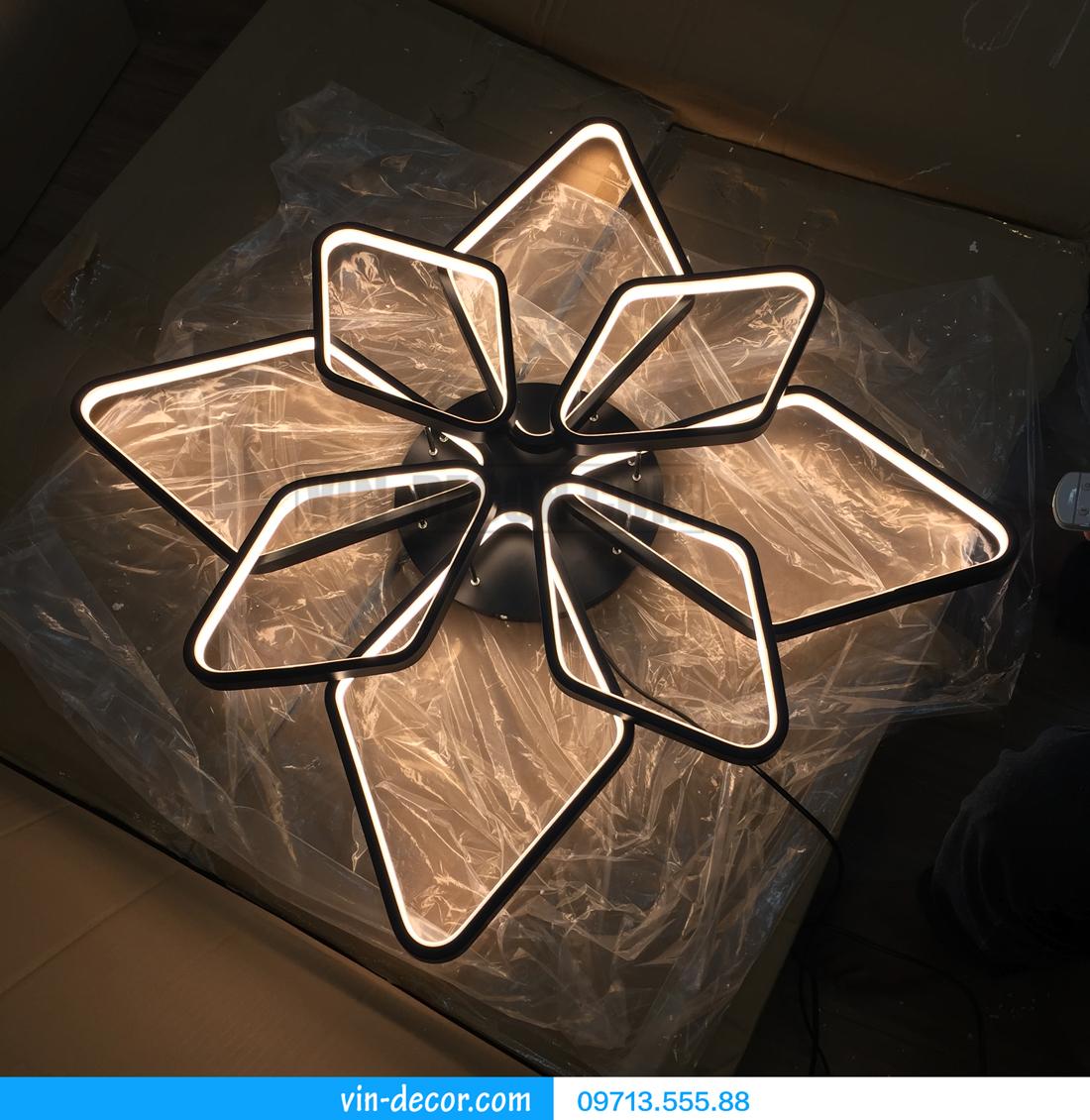 đèn led 8 vòng vuông ấn tượng 05