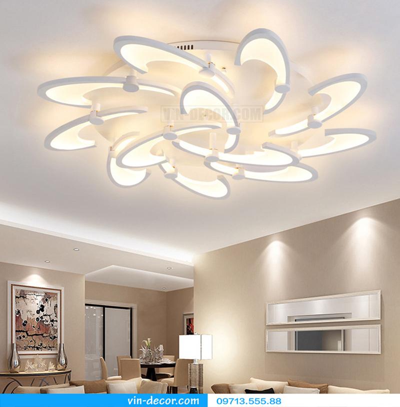 đèn led cánh hoa hiện đại độc đáo 01