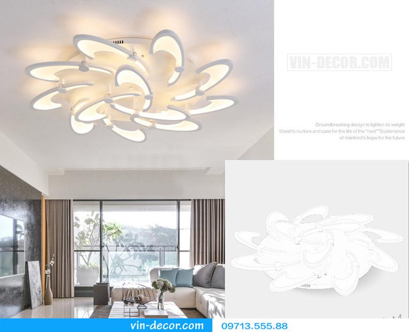đèn led cánh hoa hiện đại độc đáo 08
