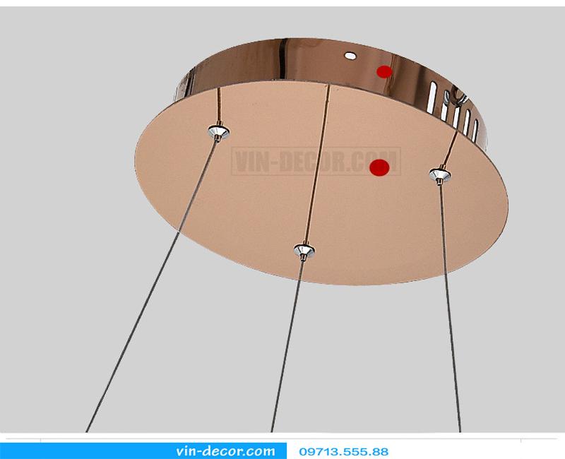 đèn led viền vàng 1 vòng hiện đại 02